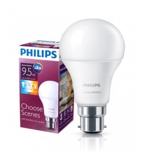 More about Philips 9.5W B22 LED Scene Switch A60 2in1 3000K/6500K 806lm Bulb