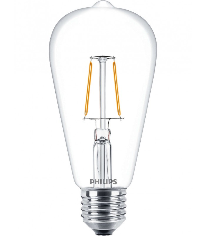 Philips 2.3W E27 LED Filament Deco ST64 Long Warm White 250lm Bulb