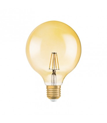 Osram 7W E27 Dimmable LED Filament Vintage 1906 G120 Warm White 710lm Globe