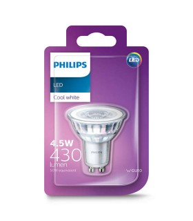 Philips 4.6W GU10 LED Spot PAR16 50 60° Cool White 430lm Lamp