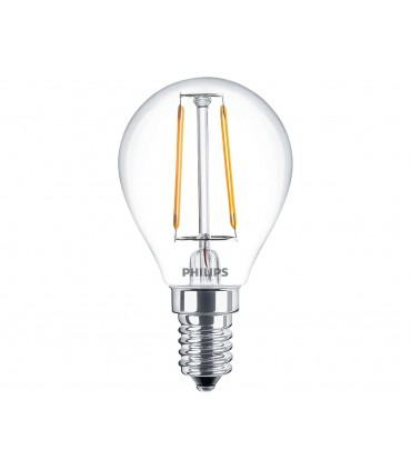 Philips 2W E14 LED Filament Deco Fancy Round Warm White 250lm Bulb