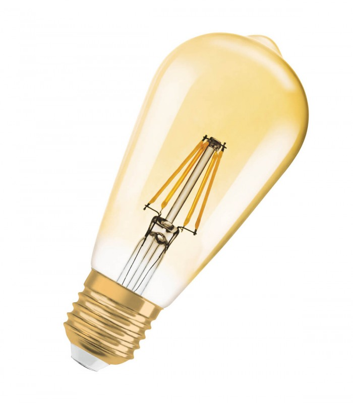 Osram 4W E27 LED Filament Vintage 1906 ST64 Warm White 380lm Bulb