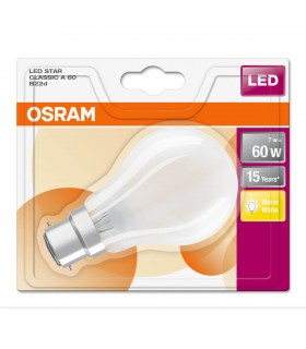 More about Osram 7W B22 LED Filament Classic A60 Frosted Warm White 806lm Bulb