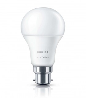 More about Philips 8W-5W-2W B22 LED Scene Switch A60 3in1 2700K/2500K/2200K 806lm Bulb