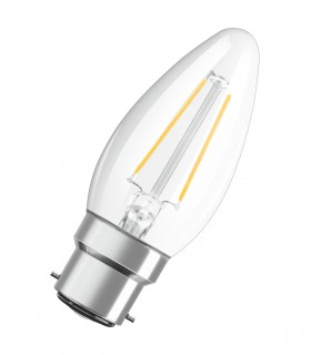 More about Osram 4W B22 LED Filament Classic B Candle Warm White 470lm Lamp