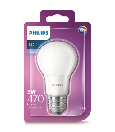 Philips 5W E27 LED Classic A60 Cool Daylight 470lm Bulb