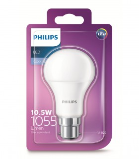 More about Philips 10.5W B22 LED Classic A60 Cool Daylight 1055lm Bulb