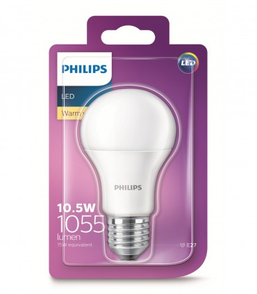Philips 10.5W E27 LED Classic A60 Warm White 1055lm Bulb