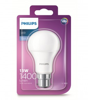 More about Philips 13W B22 LED Classic A60 Cool Daylight 1400lm Bulb
