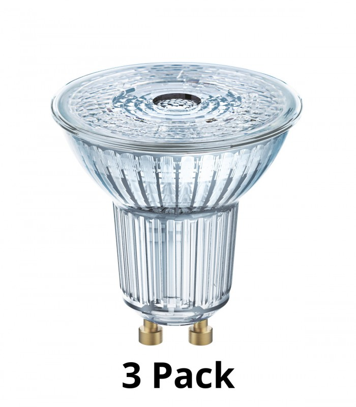 Osram 5W GU10 Dimmable LED Superstar PAR16 50 36° Warm White 3000K 400lm Lamps - 3 Pack