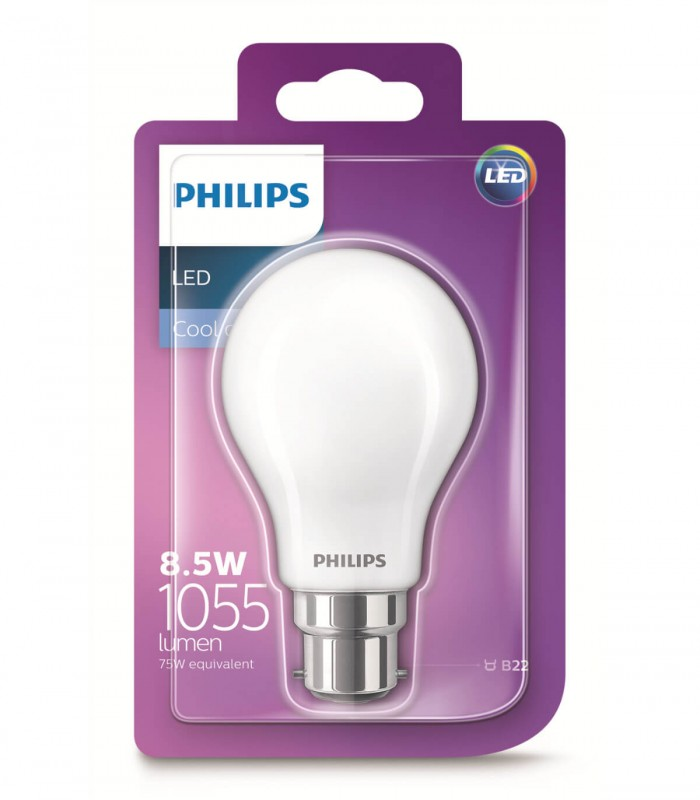 Philips 8.5W B22 LED Classic A60 Cool Daylight 1055lm Bulb