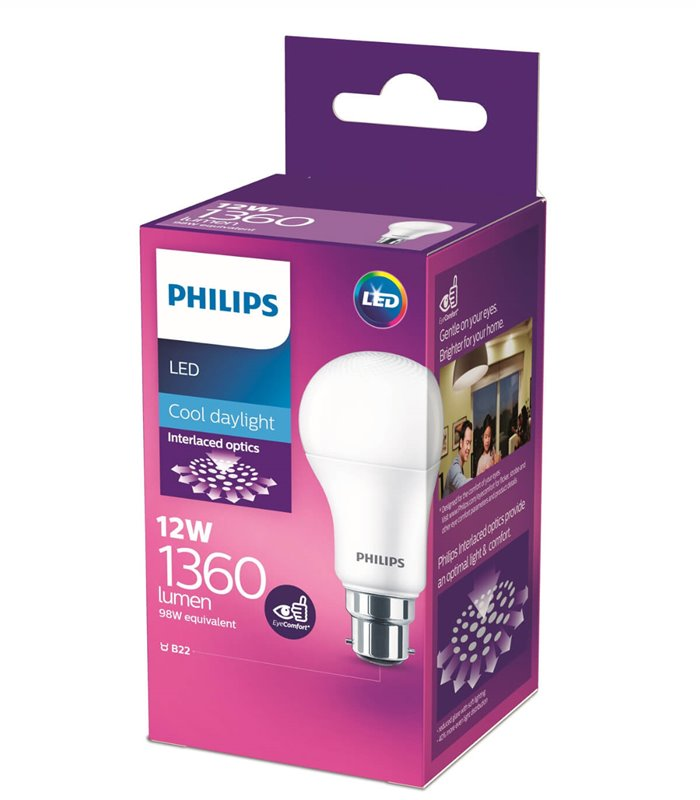 Philips 12W B22 LED Classic A60 Cool Daylight 1360lm Bulb