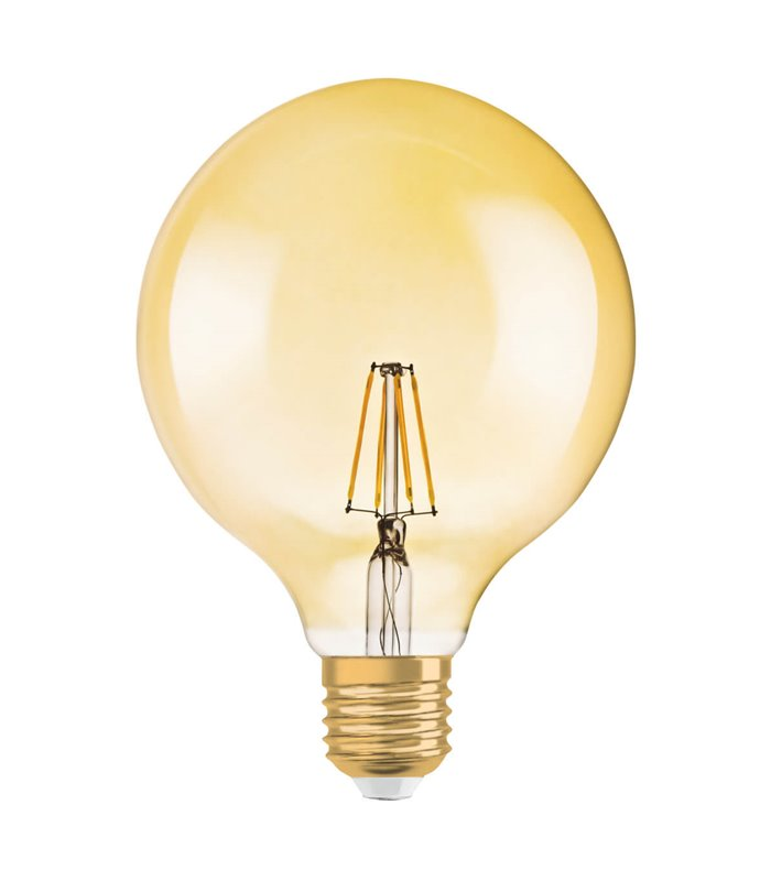 Osram 7.5W E27 Dimmable LED Filament Vintage 1906 G125 Warm White 725lm Globe