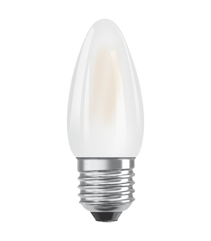 Osram 4W E27 LED Filament Classic B Candle Frosted Warm White 470lm Lamp