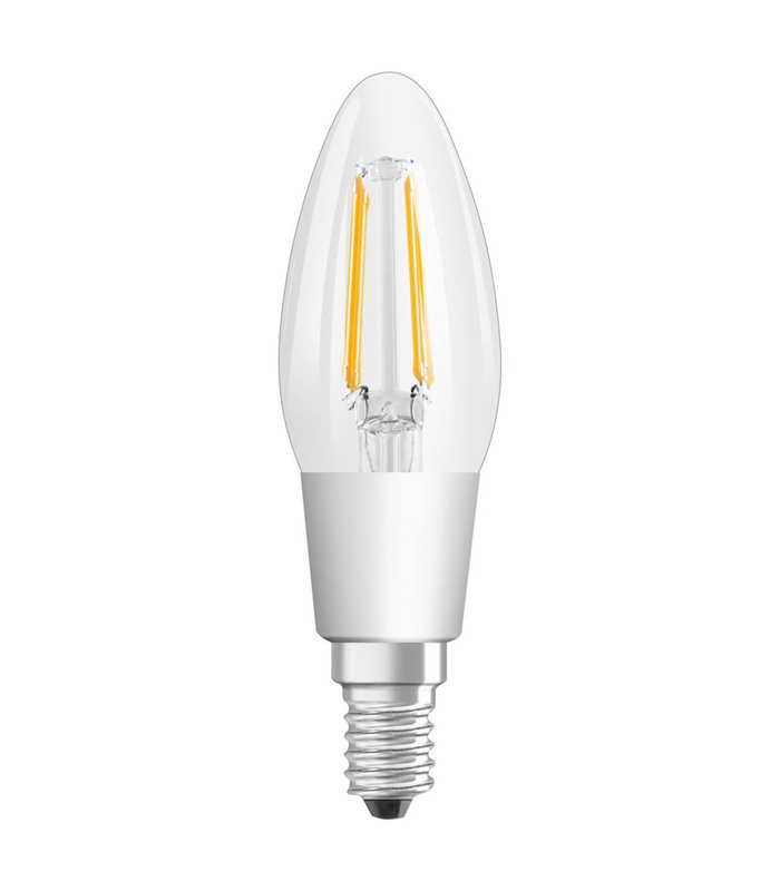 Osram 4.5W E14 Dimmable LED Filament Classic B Candle Warm White 470lm Lamp